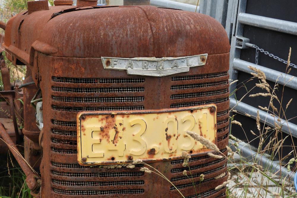 The old Farmall tractor still runs
